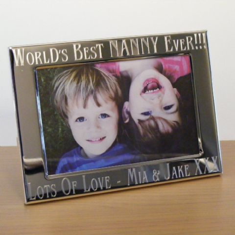 Personalised Worlds Best Nanny, Grandma Photo Frame Gift